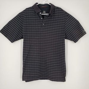 Nike Tiger Woods Collection Striped Black Shirt